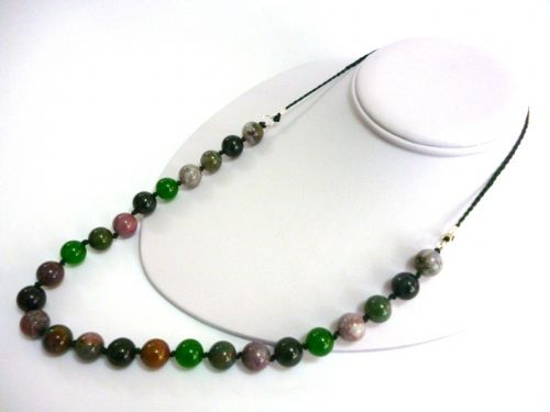 Jade and Jasper 26 inch Necklace